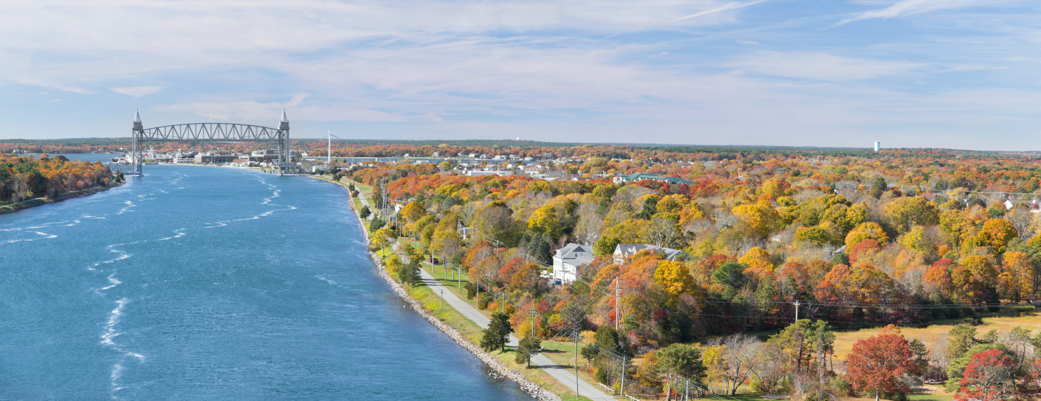 Cape Cod Canal on an Autumn day